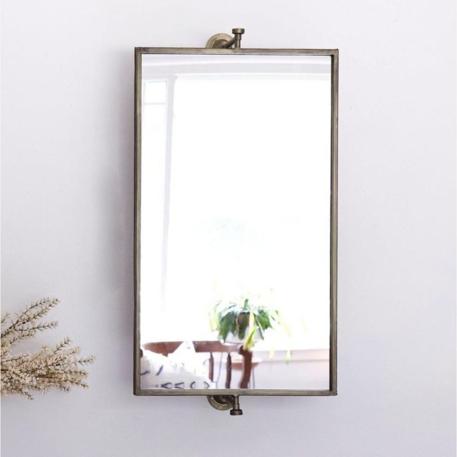 Champagne Antique Gold Rotating Mirror - image-5