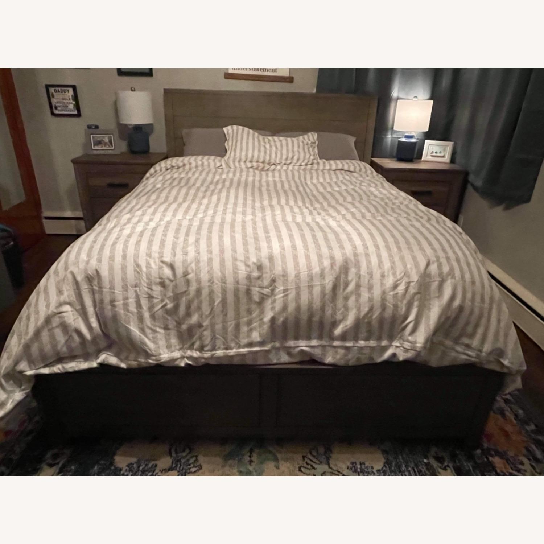 Macys Tribeca Queen Storage Bed - image-1