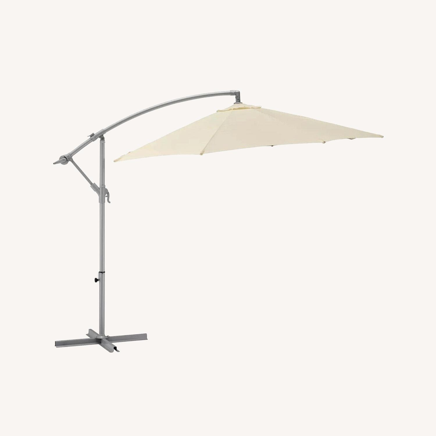 IKEA KARLSO Hanging Umbrella in White - image-0