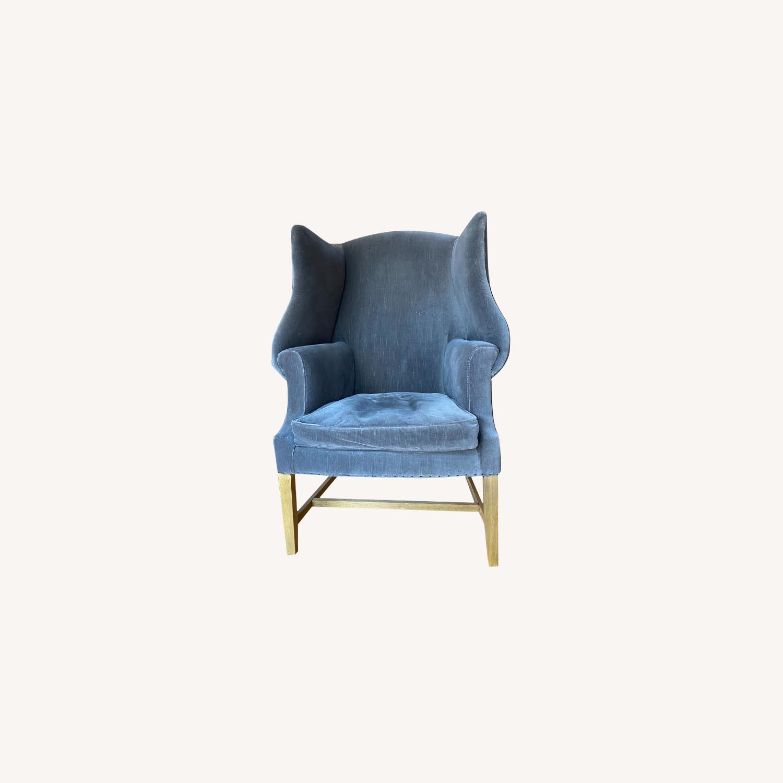 Restoration Hardware 1920's Gregorian Wingback Chair - image-0