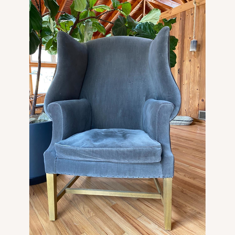 Restoration Hardware 1920's Gregorian Wingback Chair - image-1