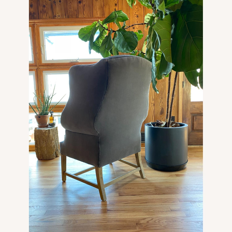 Restoration Hardware 1920's Gregorian Wingback Chair - image-3