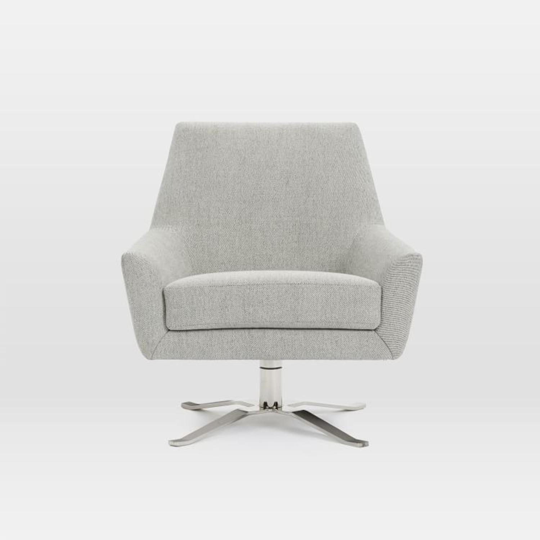 West Elm Lucas Swivel Chair - image-3