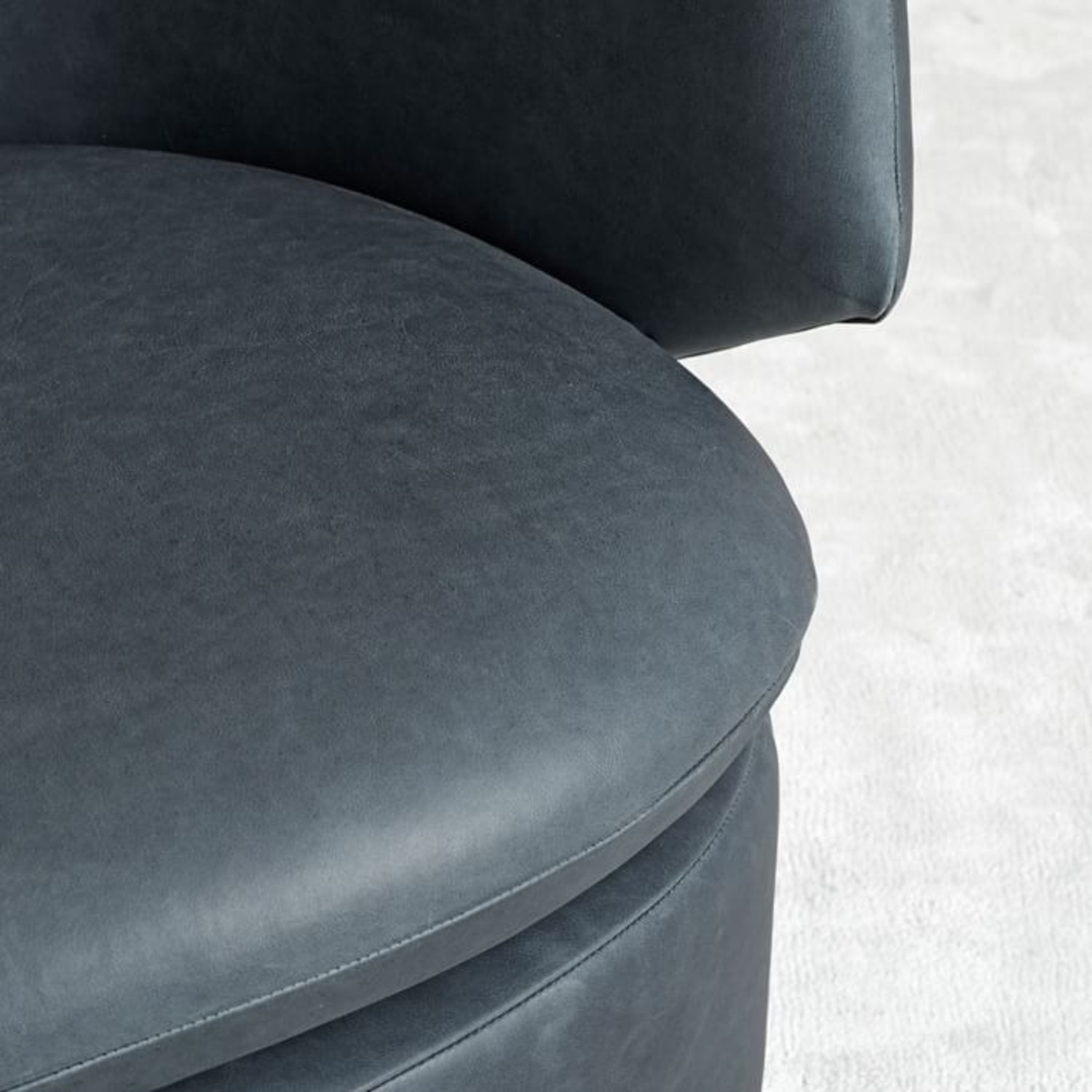 West Elm Crescent Leather Swivel Chair - image-2