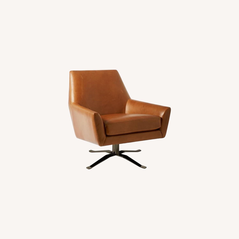 West Elm Lucas Swivel Base Chair - image-0