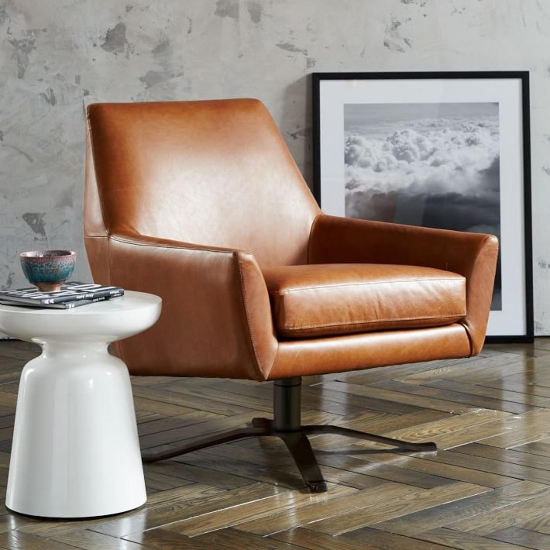 West Elm Lucas Swivel Base Chair - image-3