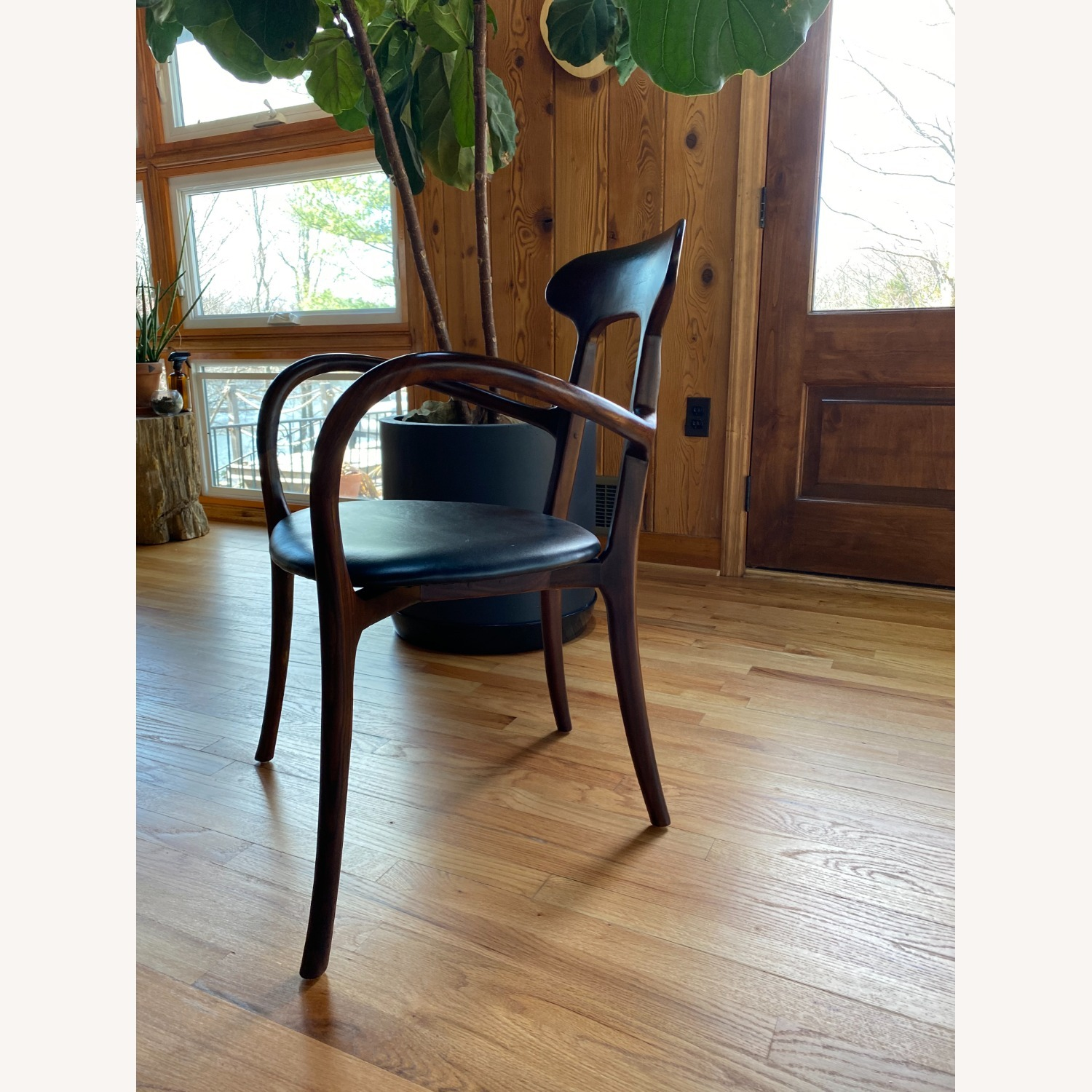 Mid-Century Inspired Rosewood and leather chairs - image-3