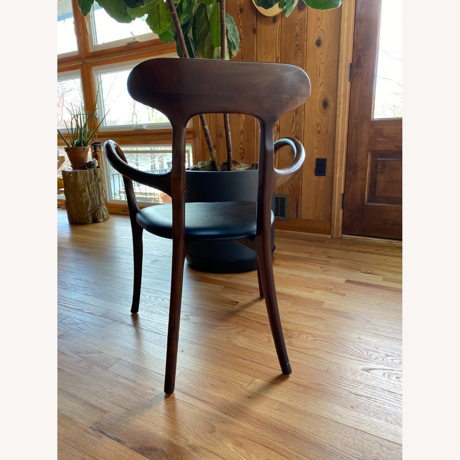 Mid-Century Inspired Rosewood and leather chairs - image-4