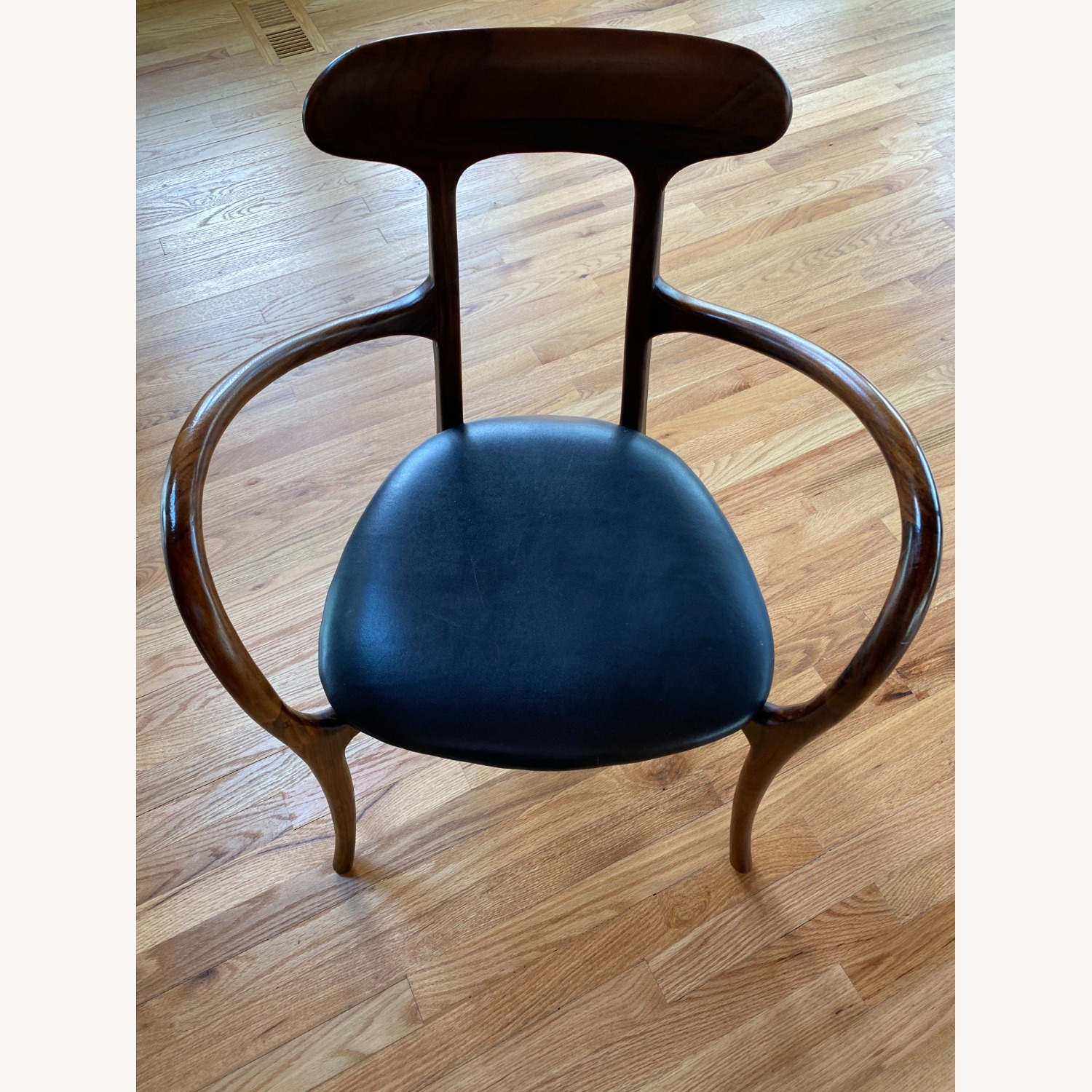 Mid-Century Inspired Rosewood and leather chairs - image-1