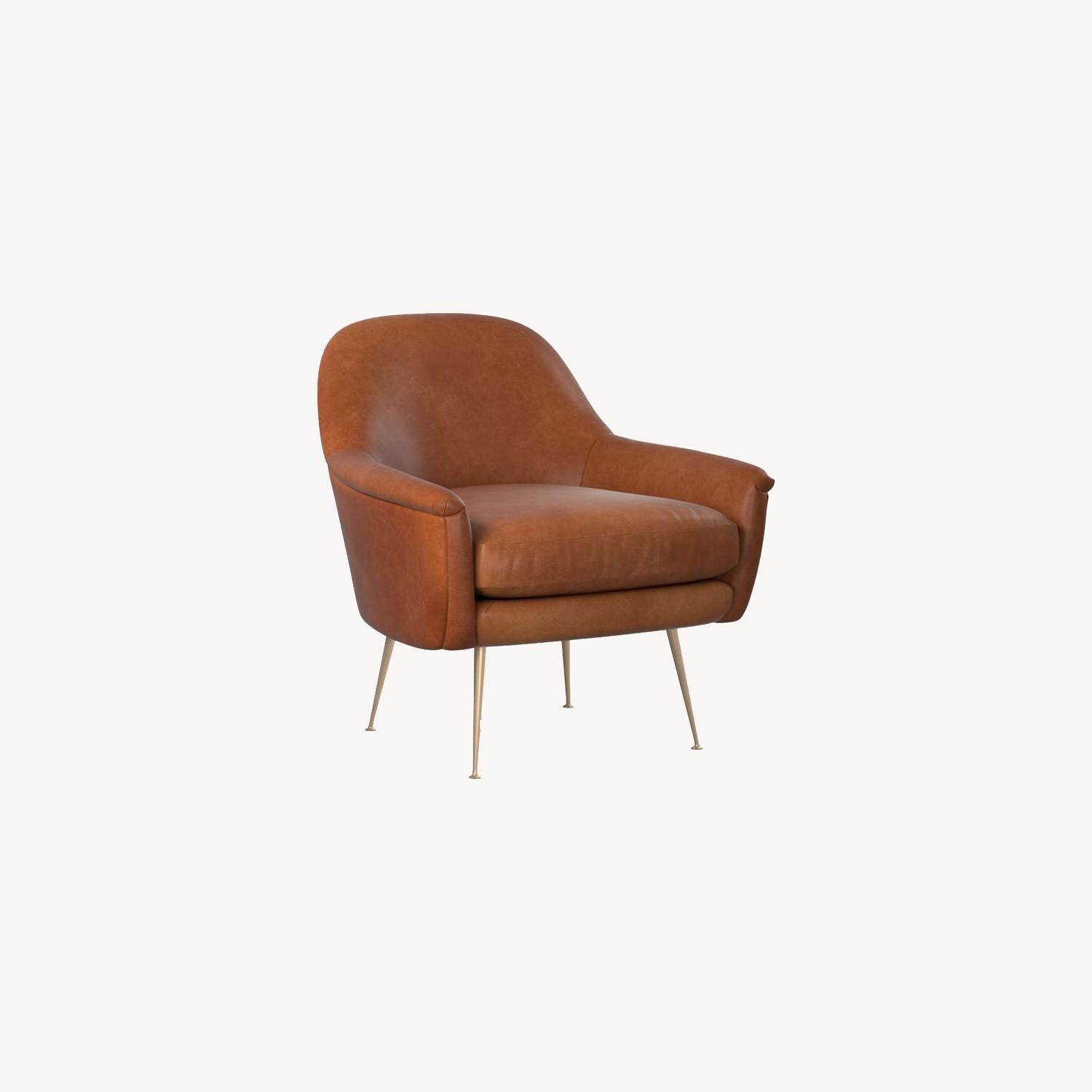 West Elm Phoebe Upholstered Mid-Century Chair - image-0