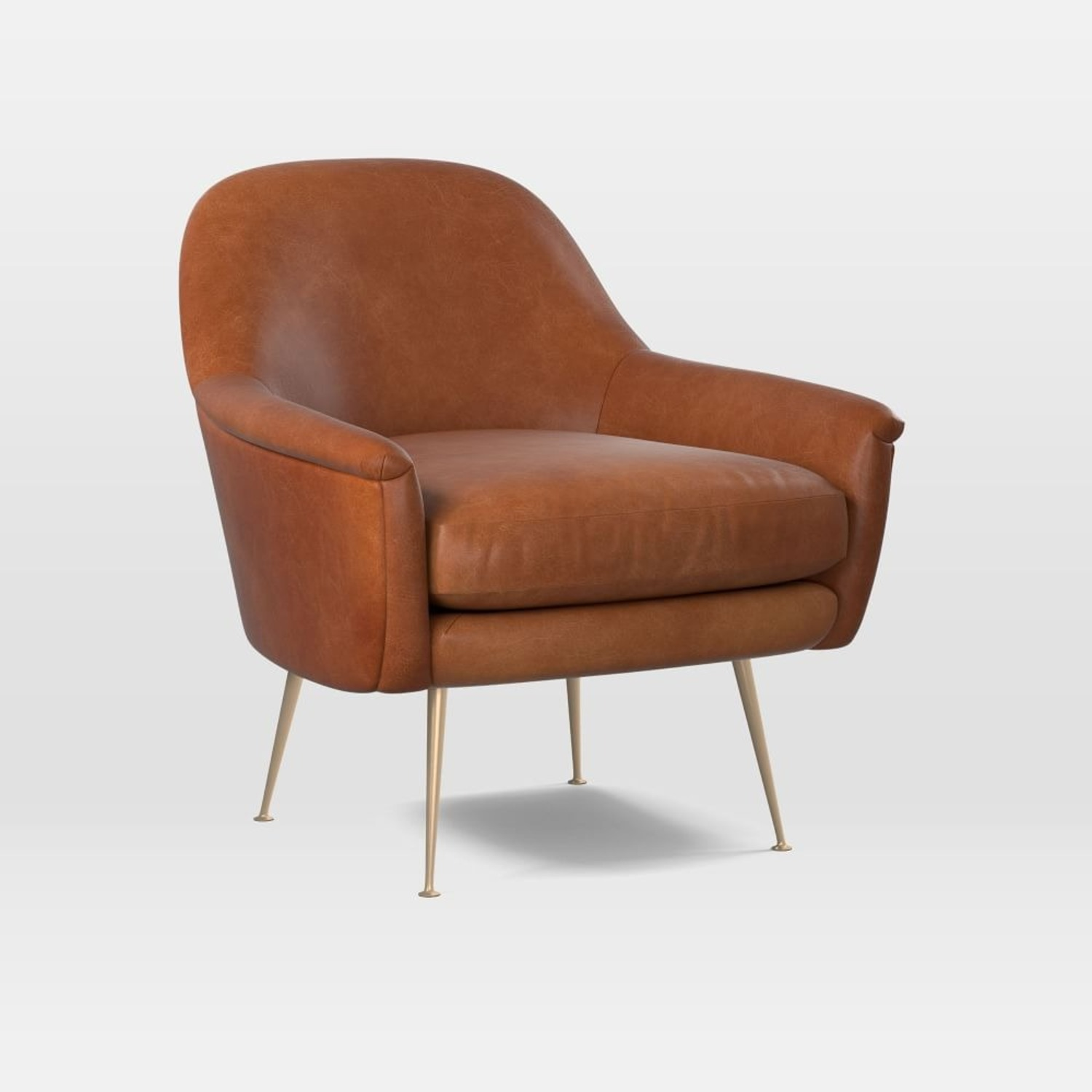 West Elm Phoebe Upholstered Mid-Century Chair - image-3