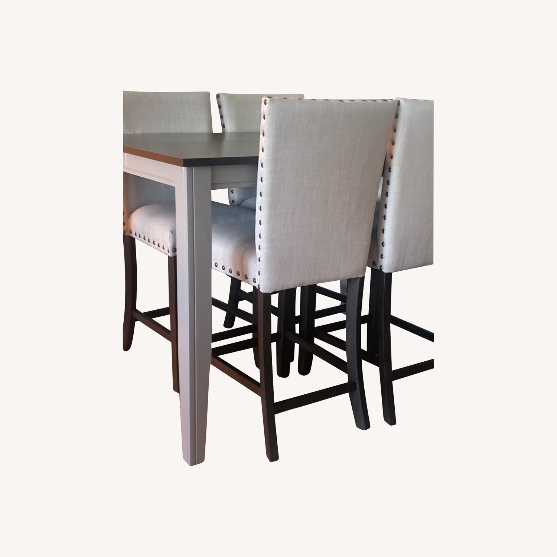 Farmhouse Wood Counter Table Set - image-0