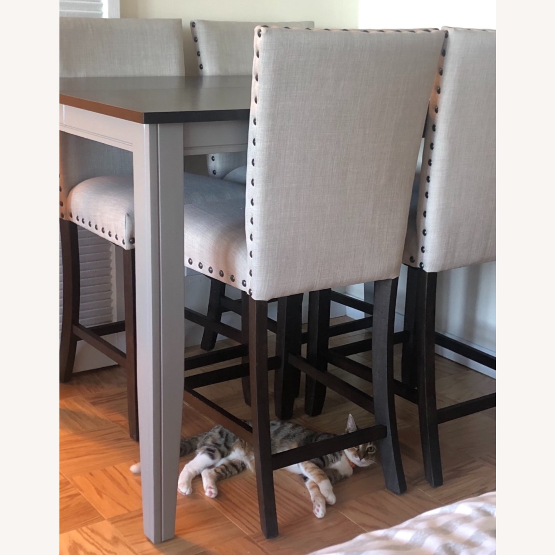Farmhouse Wood Counter Table Set - image-1