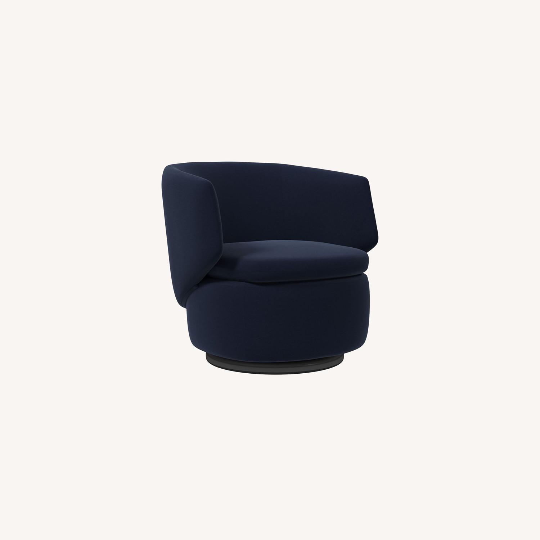 West Elm Crescent Swivel Chair - image-0