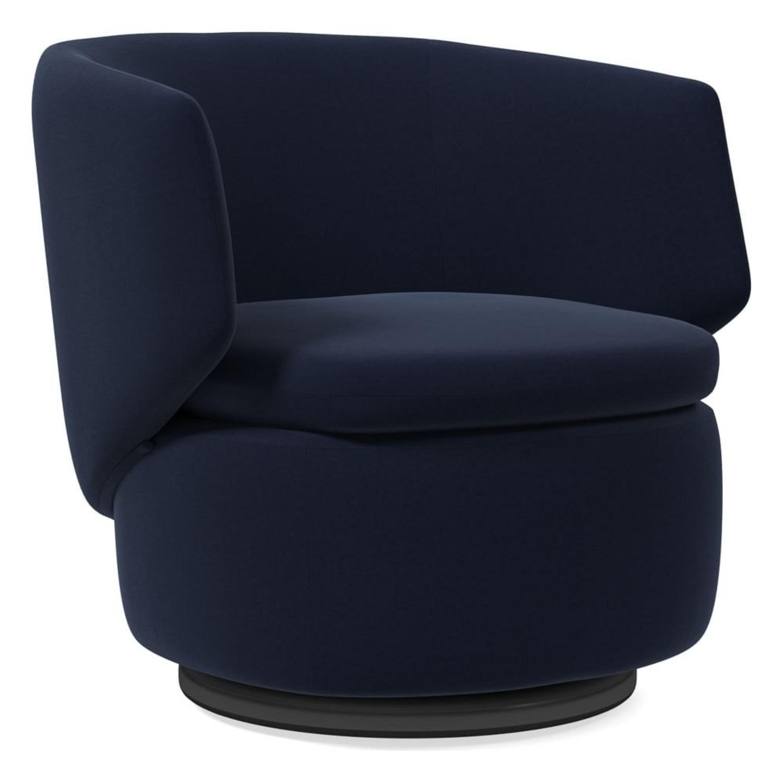 West Elm Crescent Swivel Chair - image-3