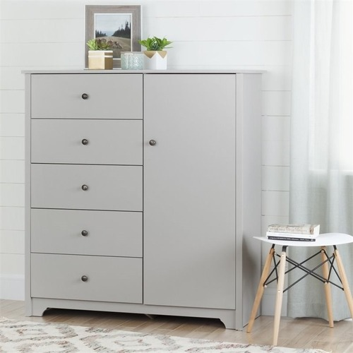 Used South Shore Furniture White, 5 Drawer Dresser for sale on AptDeco