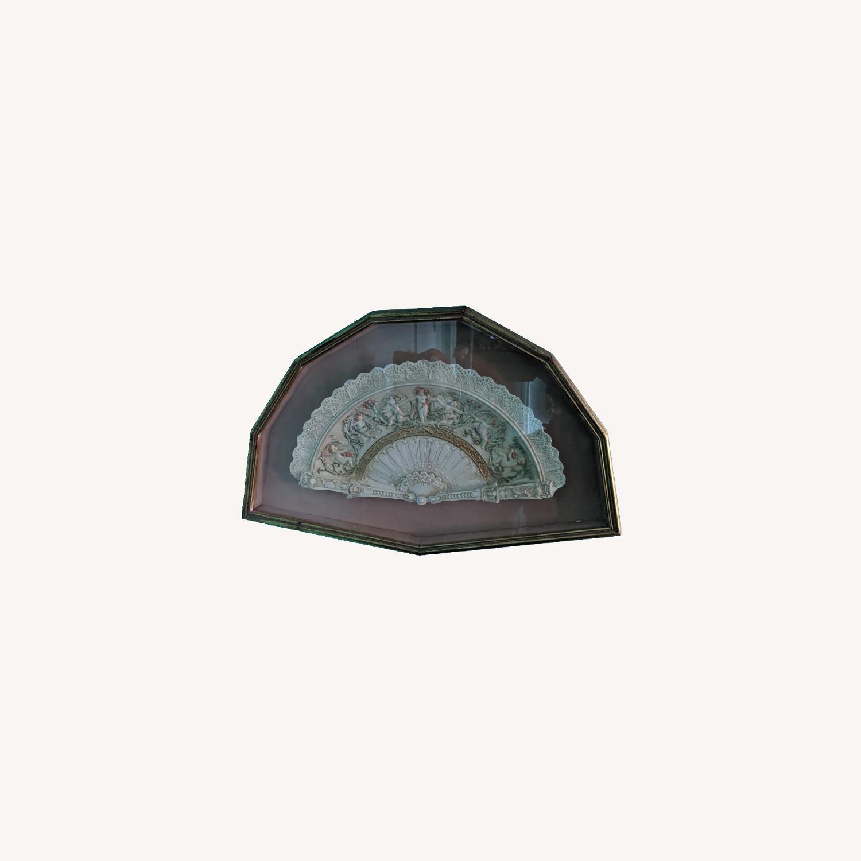 Vintage Ceramic Fan in frame - image-0