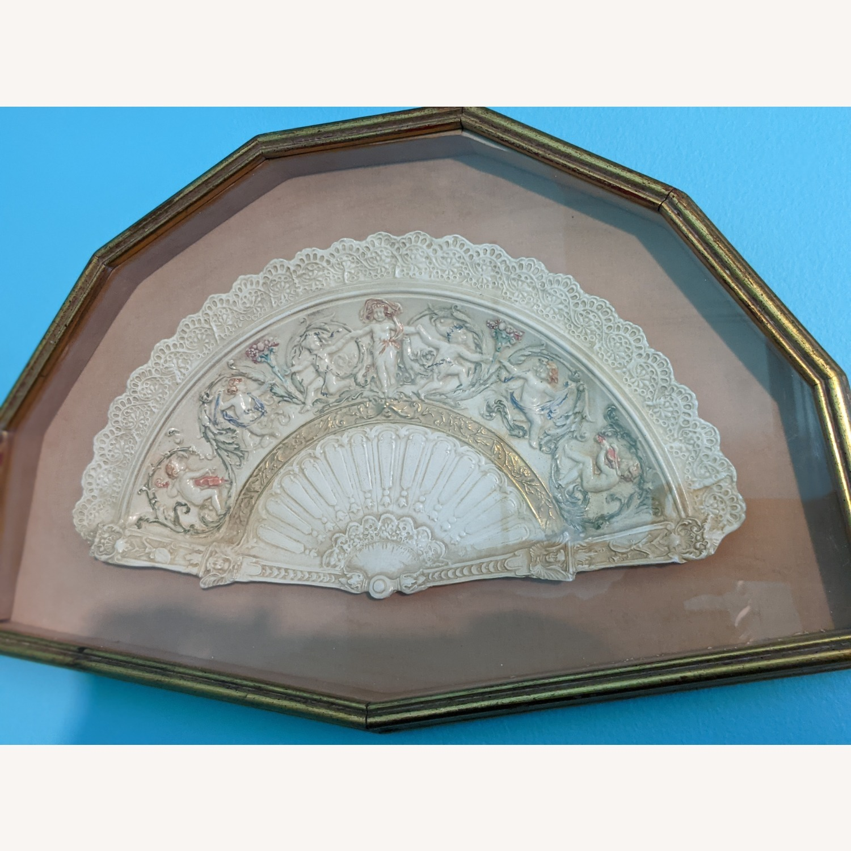 Vintage Ceramic Fan in frame - image-2