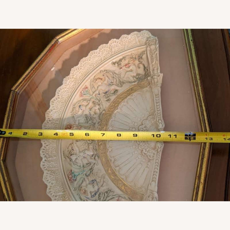 Vintage Ceramic Fan in frame - image-4