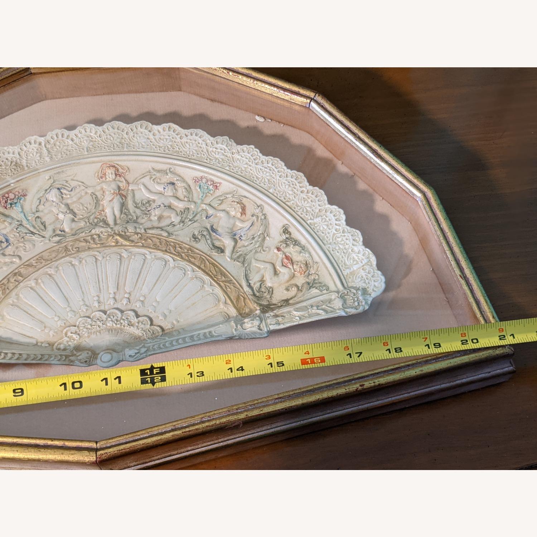 Vintage Ceramic Fan in frame - image-3