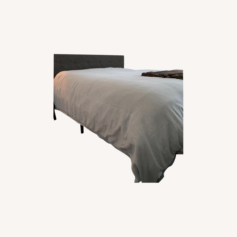 Wayfair Gray Queen Platform Bed Frame - image-0