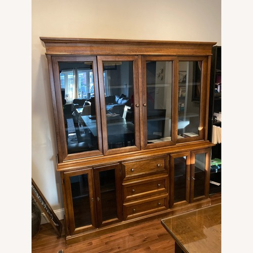 Used Crate & Barrel Wood Dinning Room Hutch for sale on AptDeco