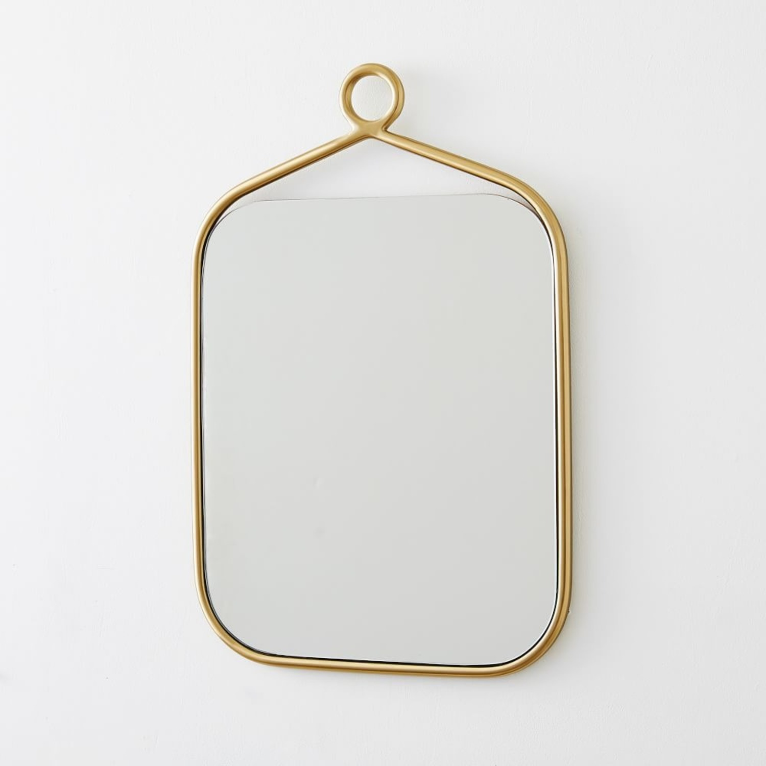 West Elm Decorative Loop Framed Metal Mirror - image-1