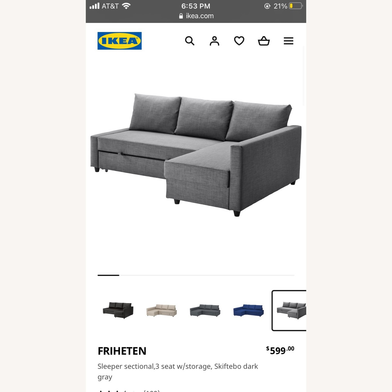 IKEA Dark Grey Pull Out Sofa - image-5