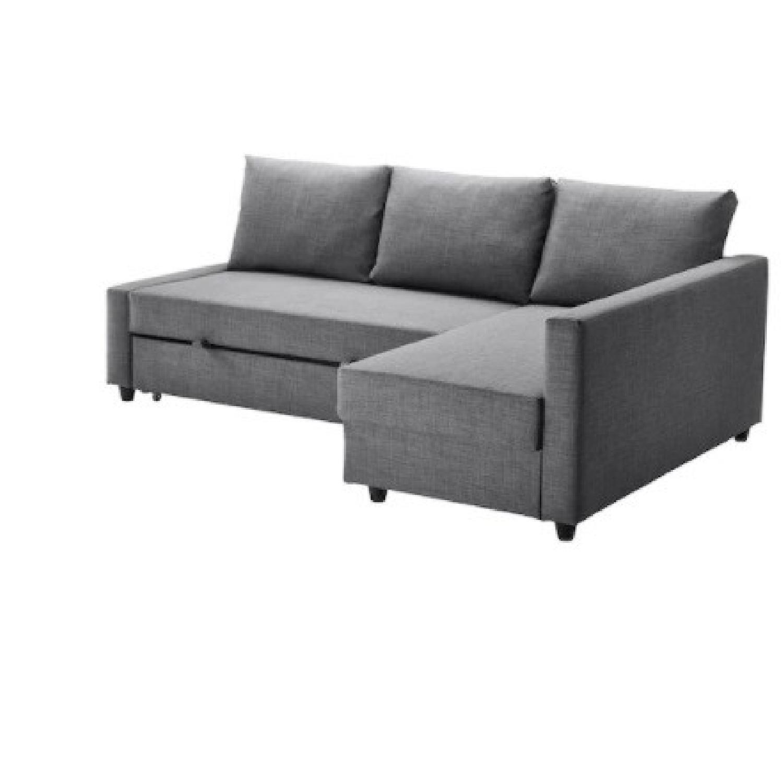 IKEA Dark Grey Pull Out Sofa - image-6