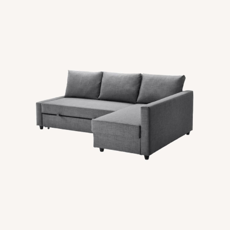 IKEA Dark Grey Pull Out Sofa - image-0