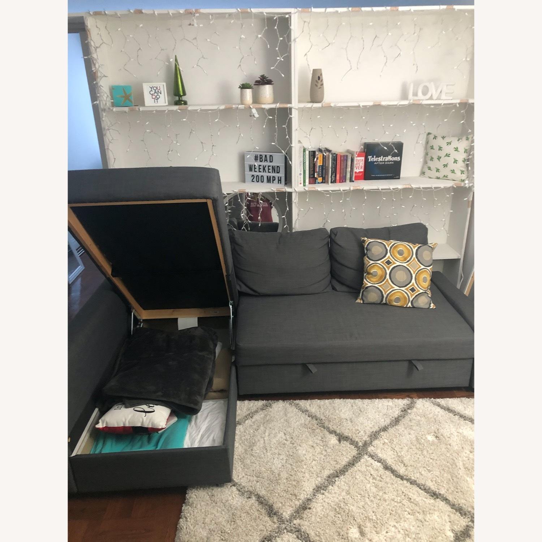 IKEA Dark Grey Pull Out Sofa - image-2