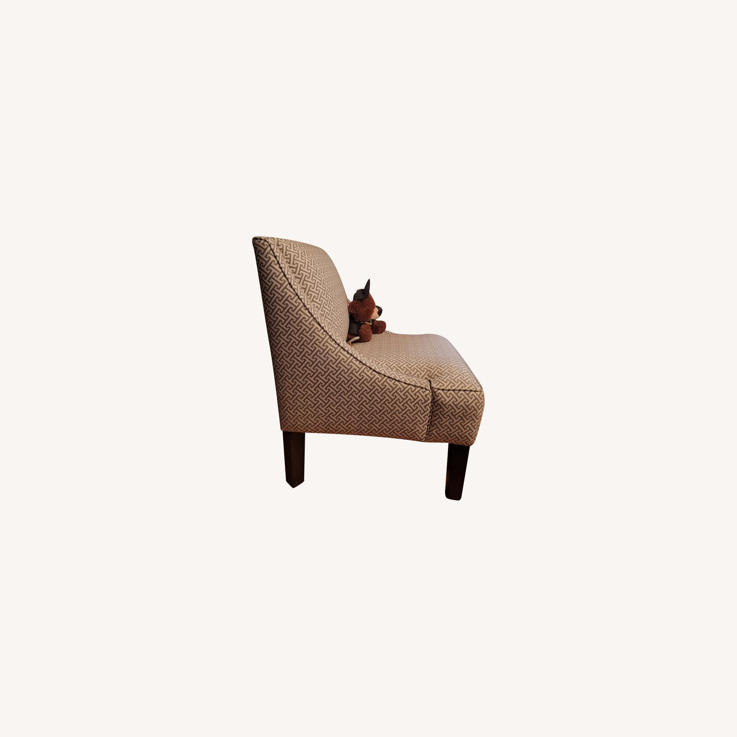 Macy's Beige and white Accent Chair - image-0