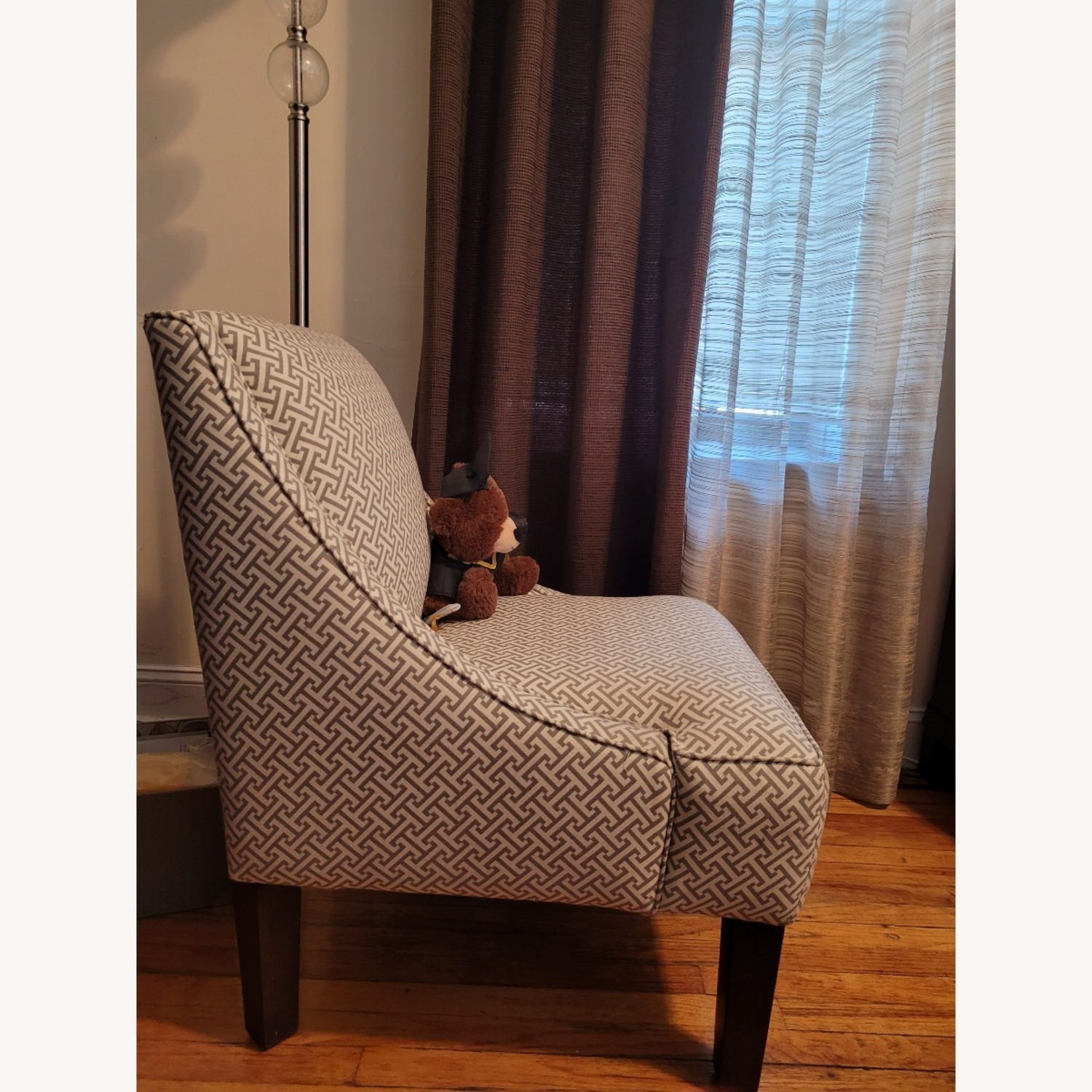 Macy's Beige and white Accent Chair - image-1