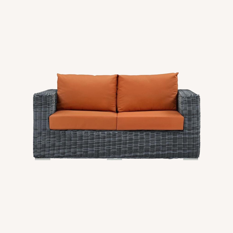 Outdoor Loveseat W/ Tuscan Cushion Fabric - image-6