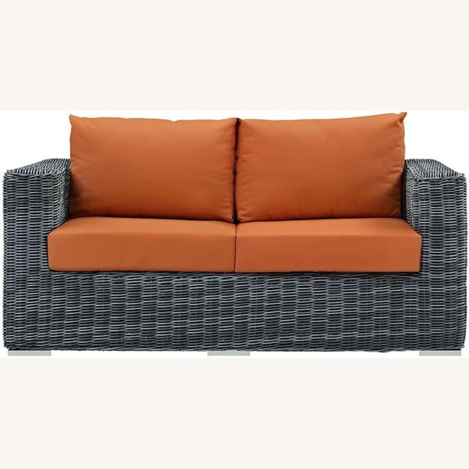 Outdoor Loveseat W/ Tuscan Cushion Fabric - image-0