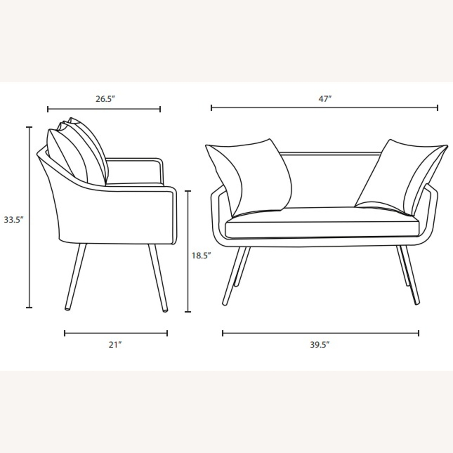 Outdoor Loveseat In Gray-On-Gray Tone Finish - image-5