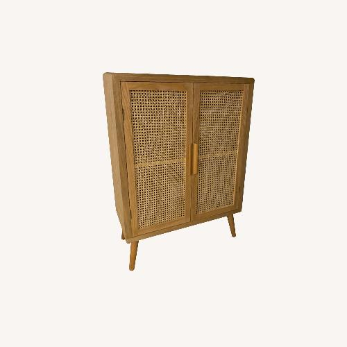 Used Anthropologie Rattan Console for sale on AptDeco