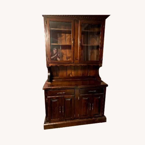 Used China Cabinet - Dark Wood for sale on AptDeco