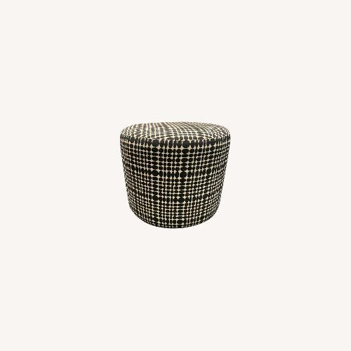 Used Black and White Patterned Ottoman for sale on AptDeco