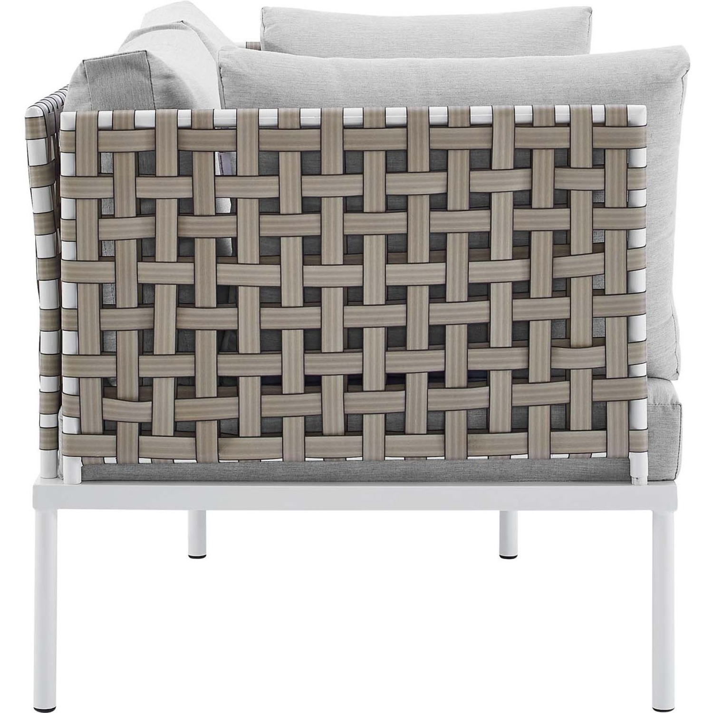 Outdoor Loveseat In Basket Weave Frame - image-2