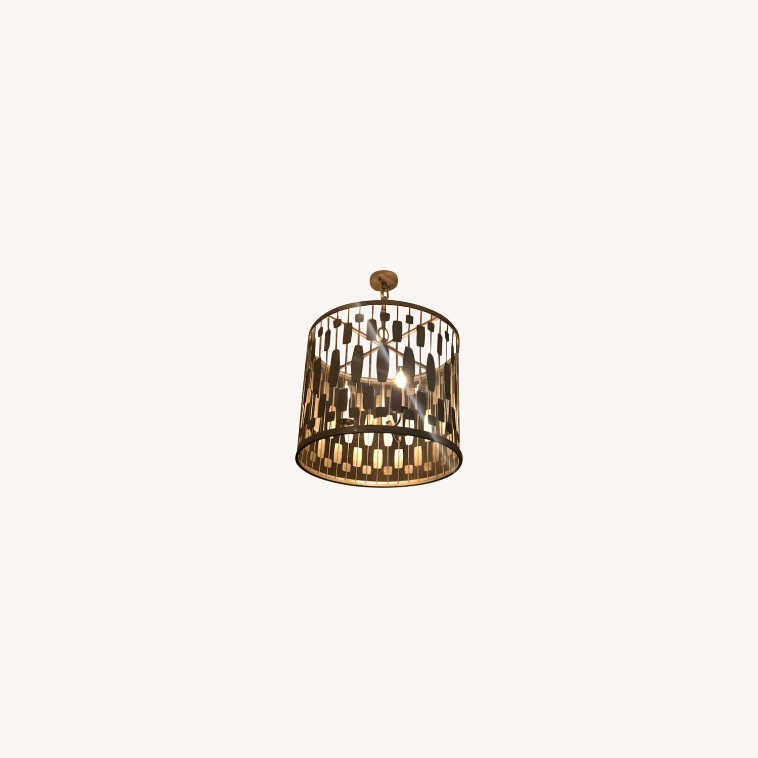Gold Pendant Light - image-0