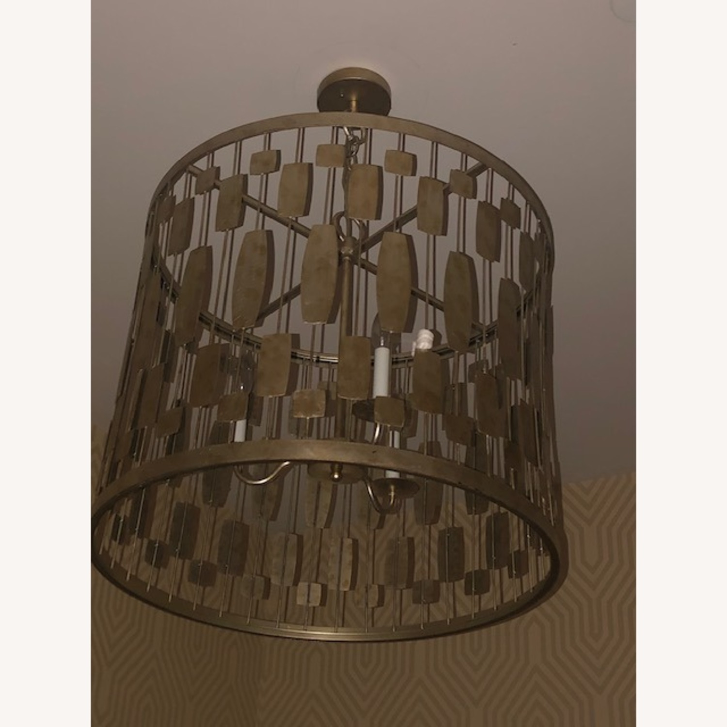 Gold Pendant Light - image-3