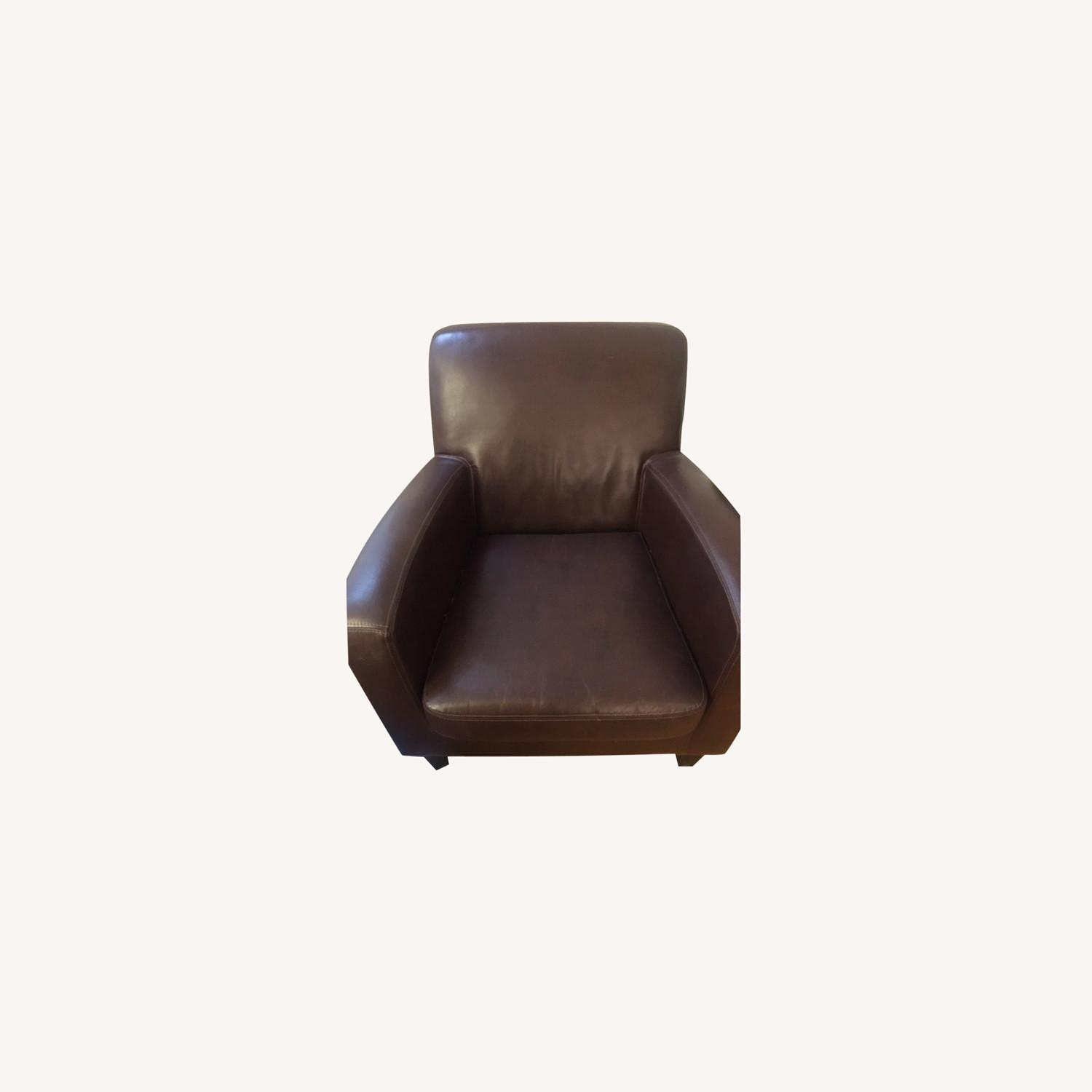 IKEA Faux-Leather Armchairs - image-0