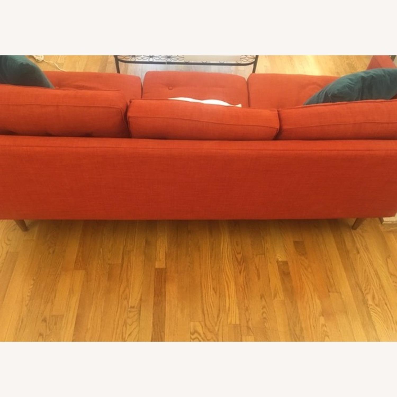 West Elm-Orange Couch - image-2