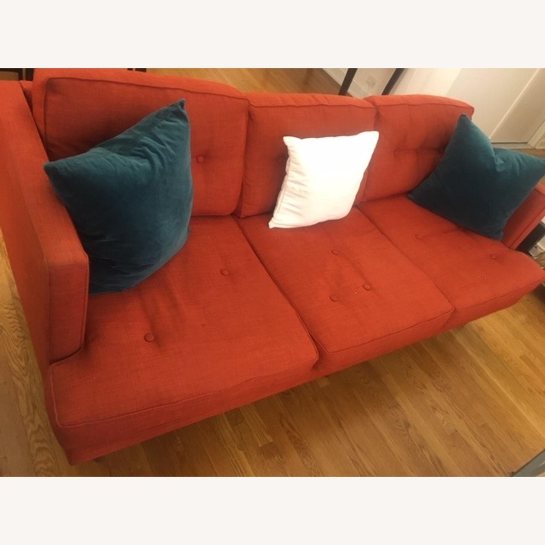 West Elm-Orange Couch - image-0