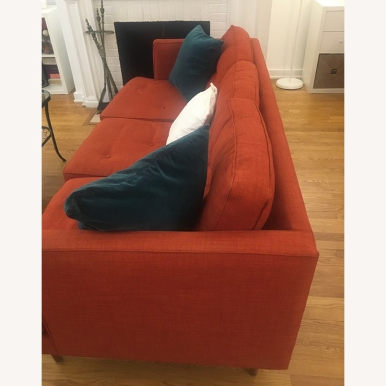 West Elm-Orange Couch - image-1