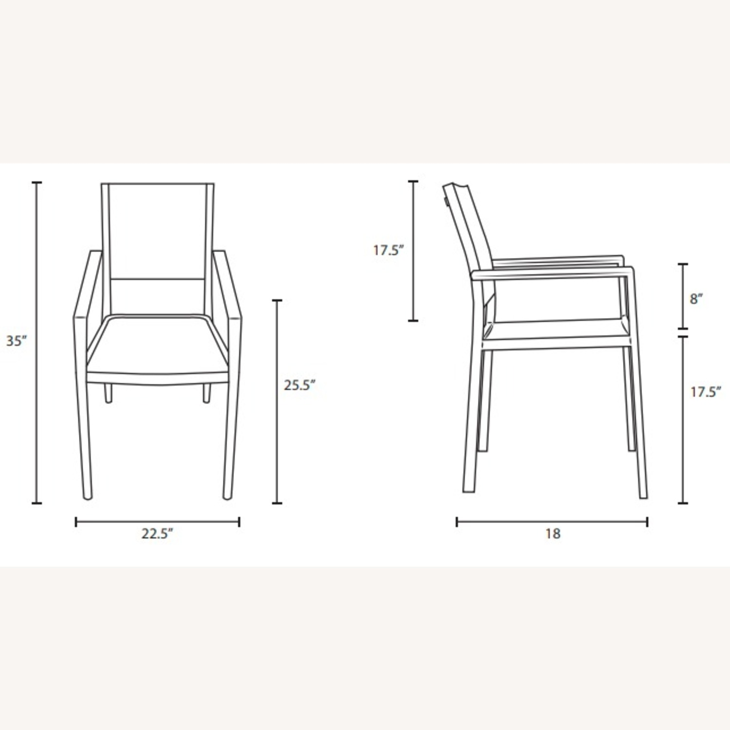 Outdoor Dining Chair In Black Mesh Finish - image-4