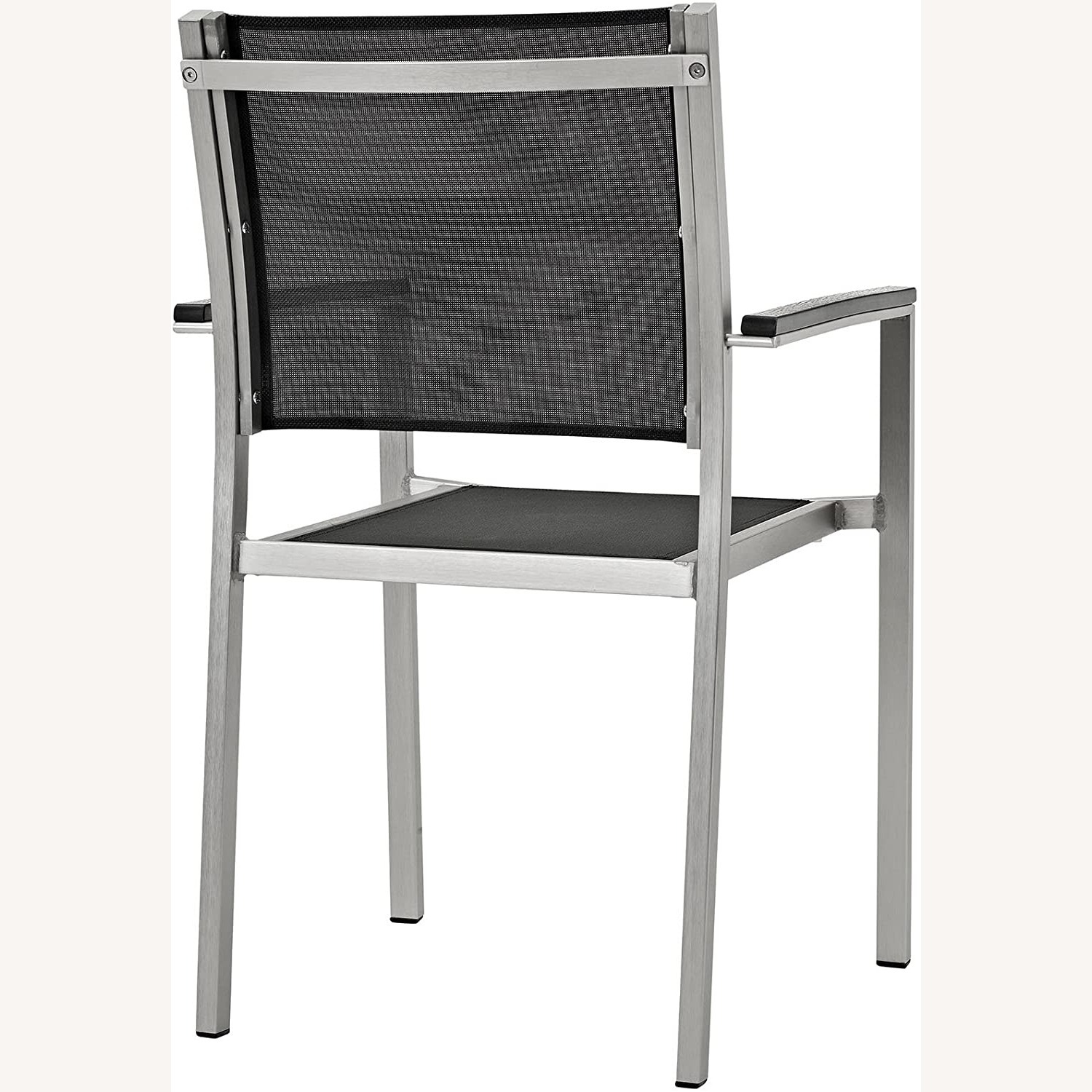 Outdoor Dining Chair In Black Mesh Finish - image-2