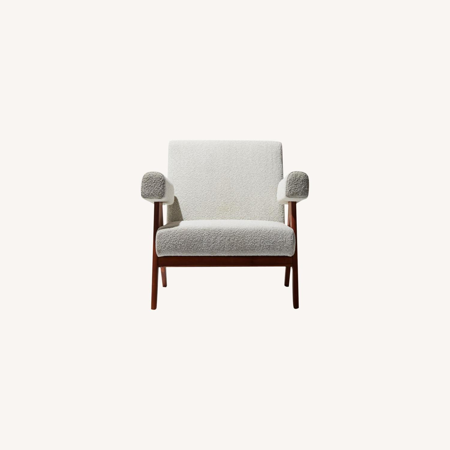 Industry West Cream Boucle Compass Chair - image-0