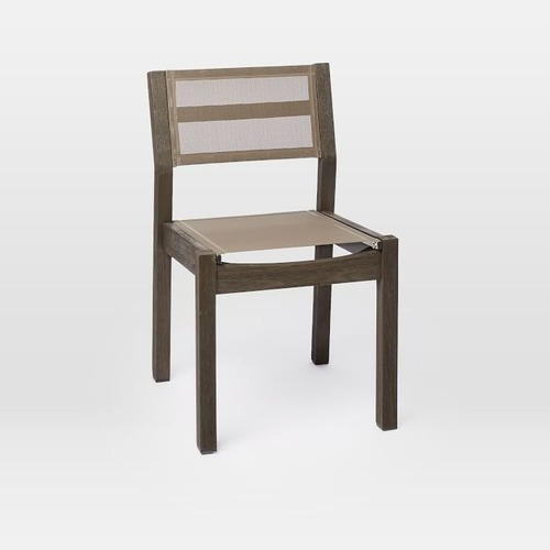 Used West Elm Portside Textiline Chair, Weathered Cafe for sale on AptDeco